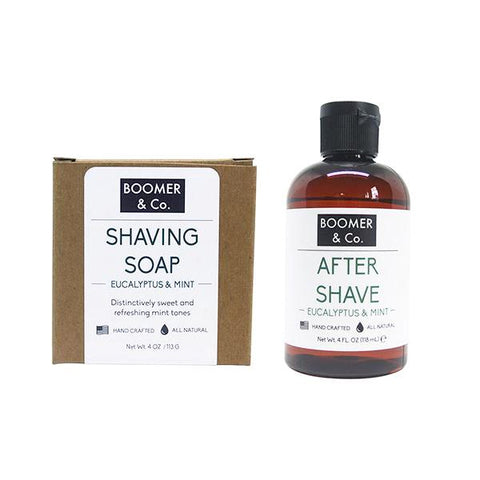 eucalyptus and mint shaving kit