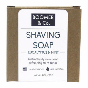 Eucalyptus & Mint Shaving Soap Bar - Boomer & Co.
