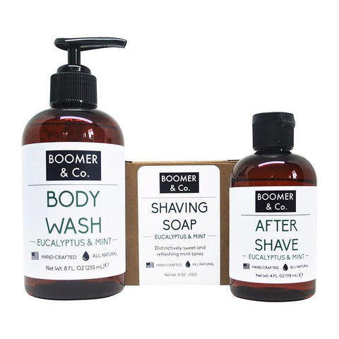 Eucalyptus & Mint Men's Grooming Kit - Boomer & Co.