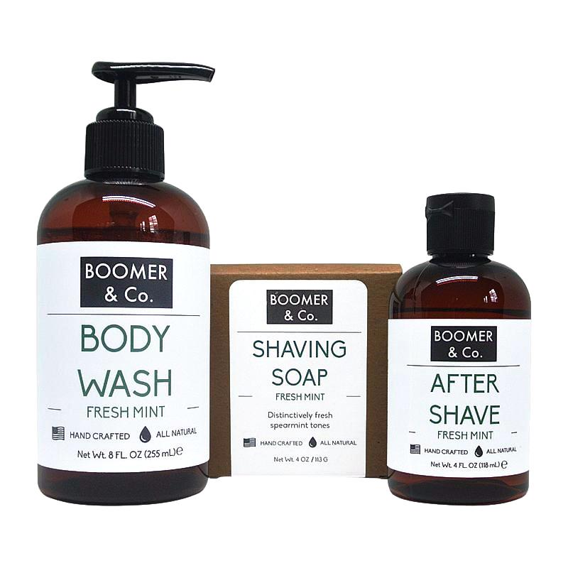 Fresh Mint Men's Grooming Kit - Boomer & Co.
