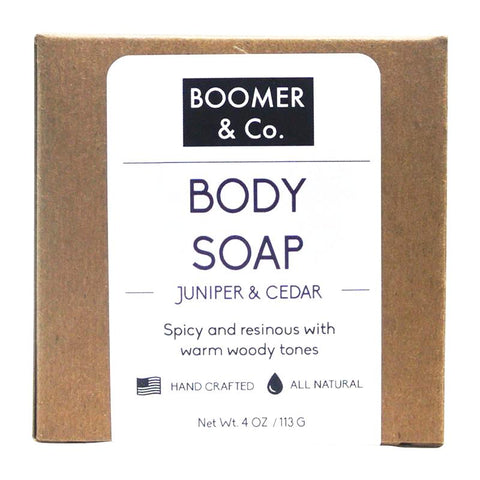 juniper and cedar body soap
