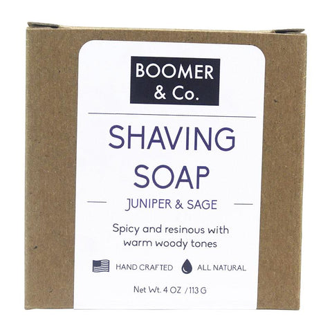 Juniper & Cedar Shaving Soap Bar - Boomer & Co.