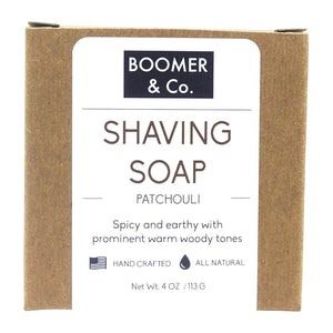 Patchouli Shaving Soap Bar - Boomer & Co.