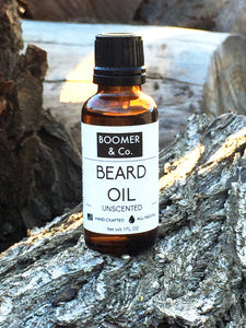 Unscented Beard Oil - Boomer & Co.