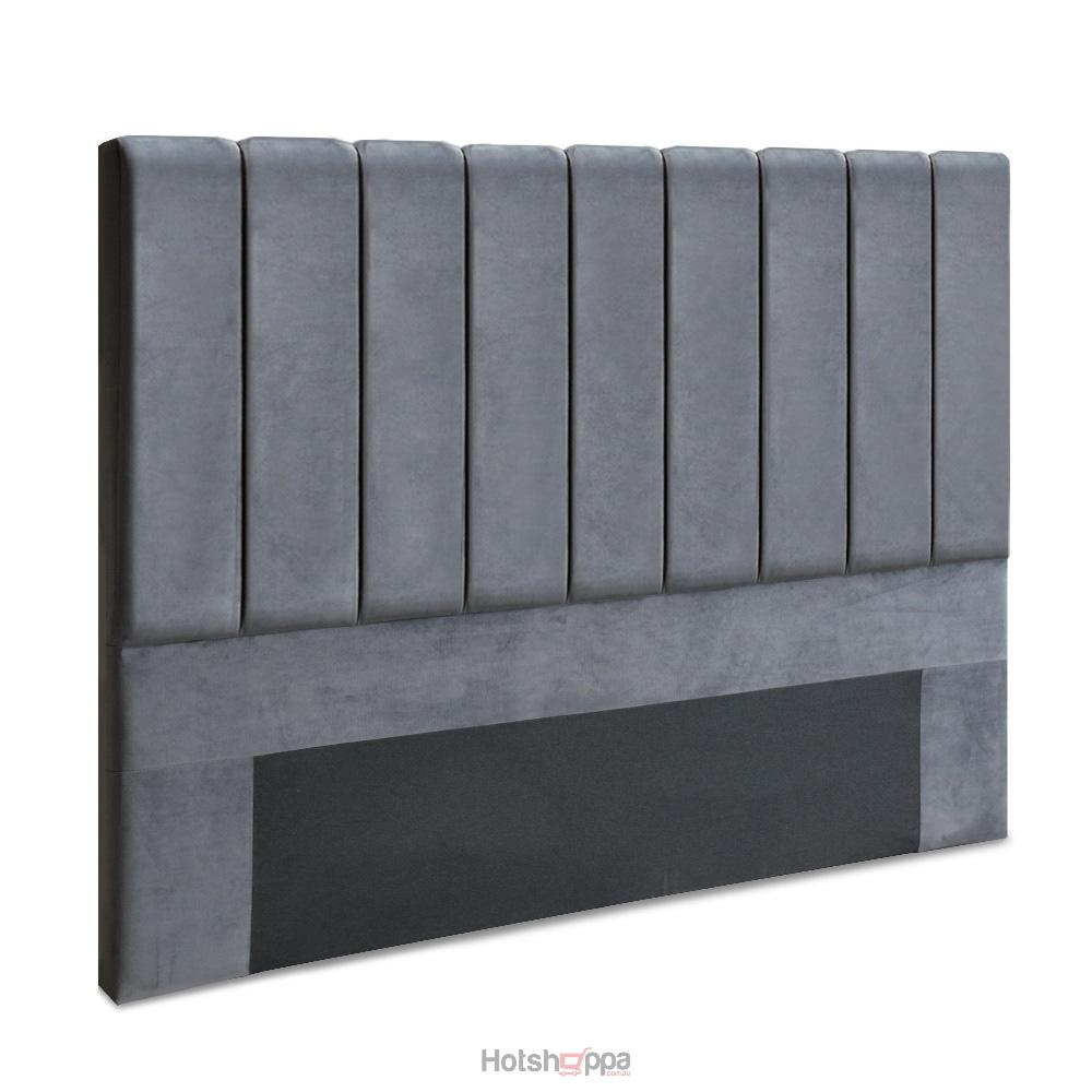 Windsor Velvet Grey Headboard (Queen, King)