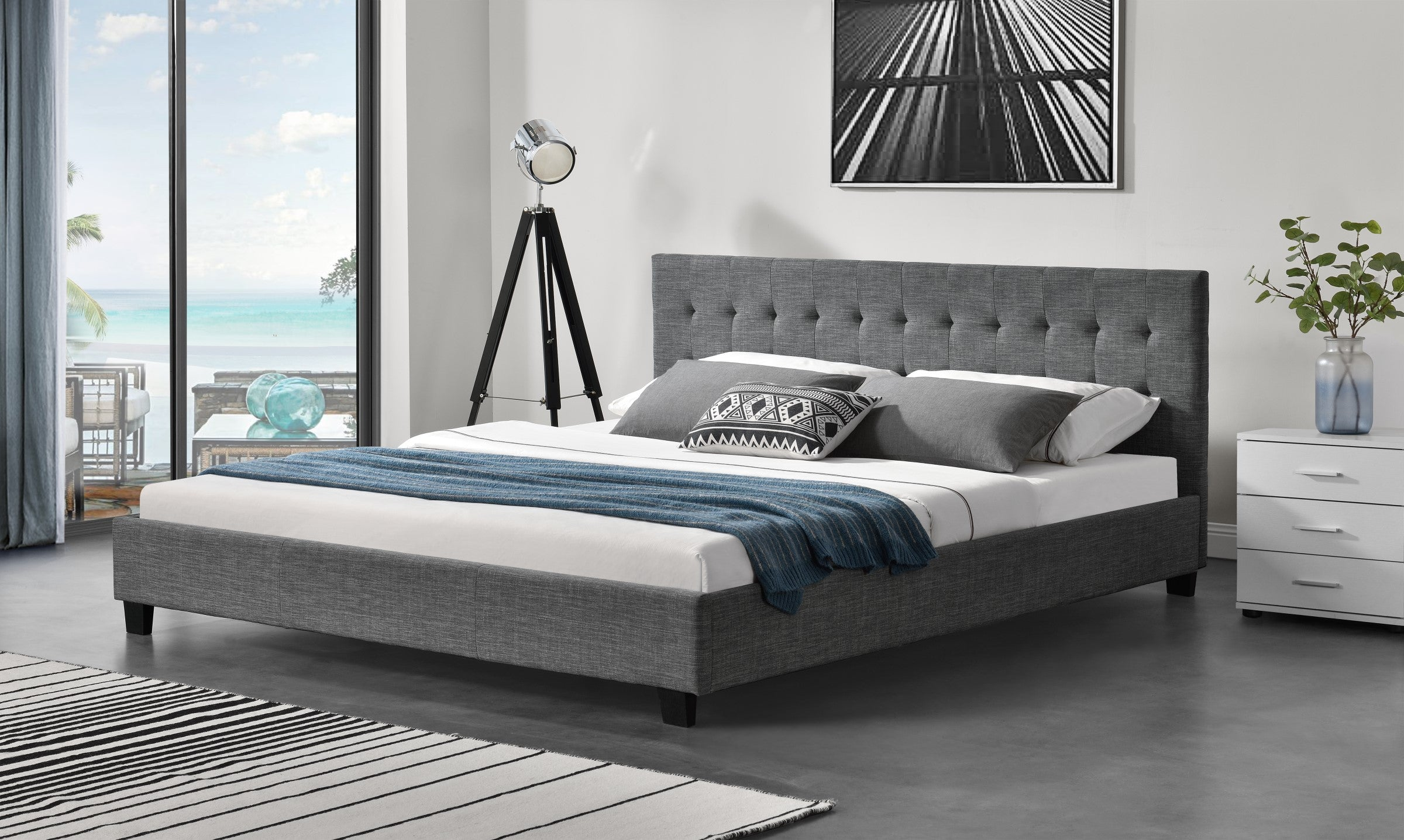 Bed Frame (Super King, King, Queen, Double) - Grayson