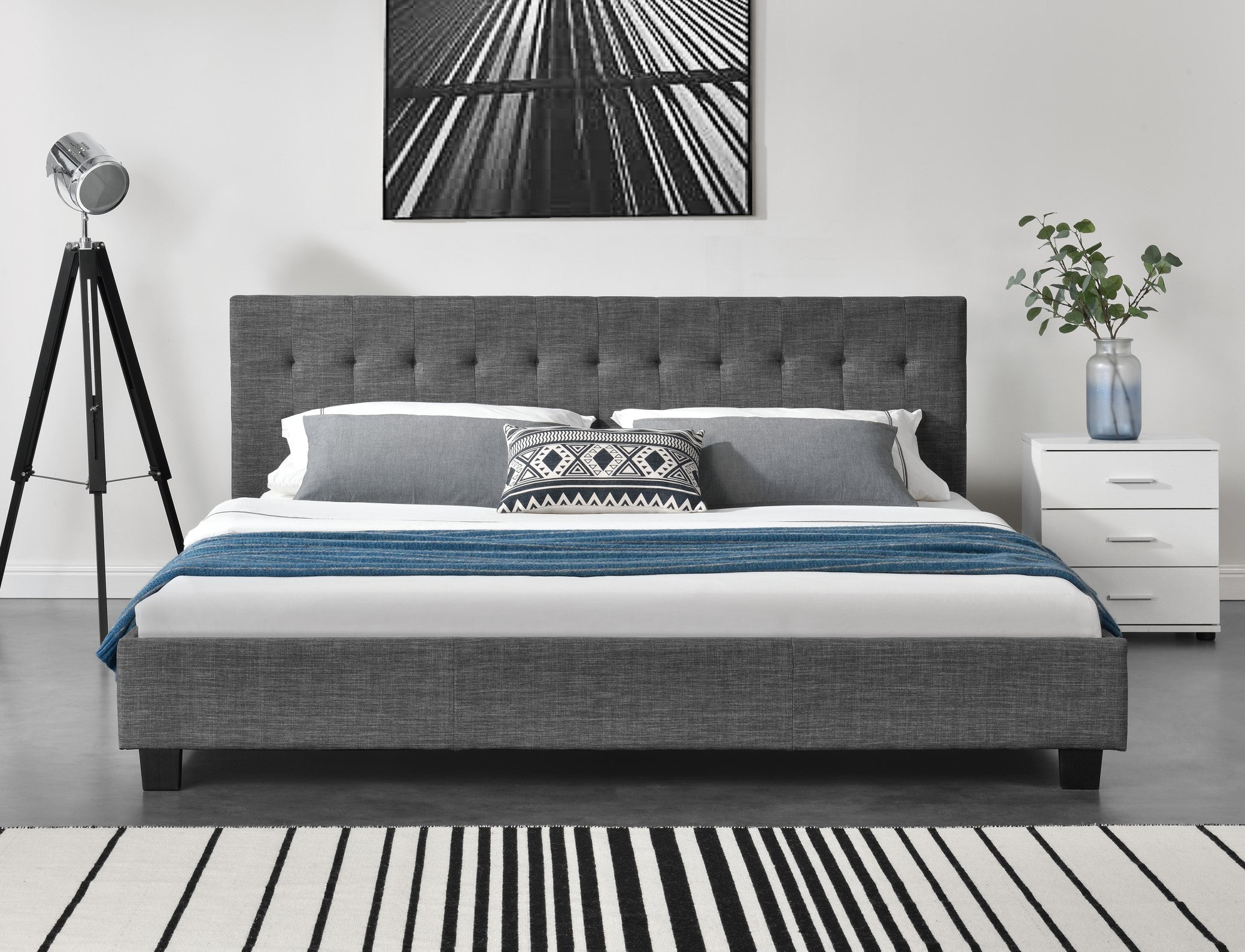 Bed Frame & Mattress Bundle (Super King, King, Queen, Double) - Grayson
