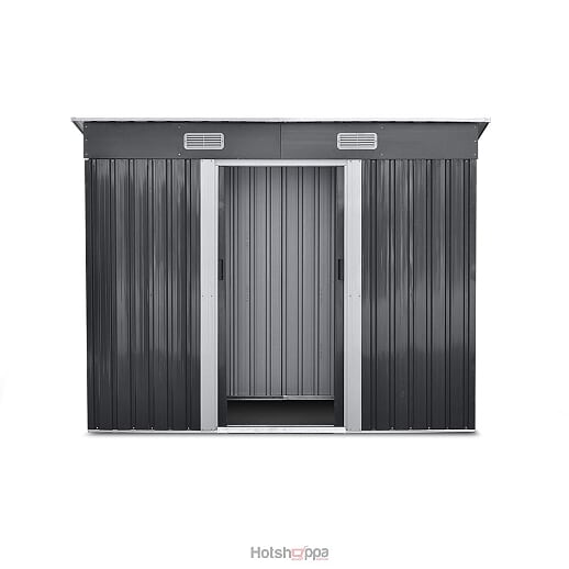 Garden Shed Metal Base 2.35 x 1.31M - Monument Grey