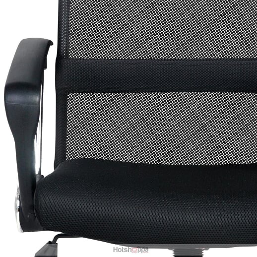 High Back Office Chair PU Leather - Black