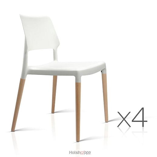 White Replica Dining Chairs - Set of 4