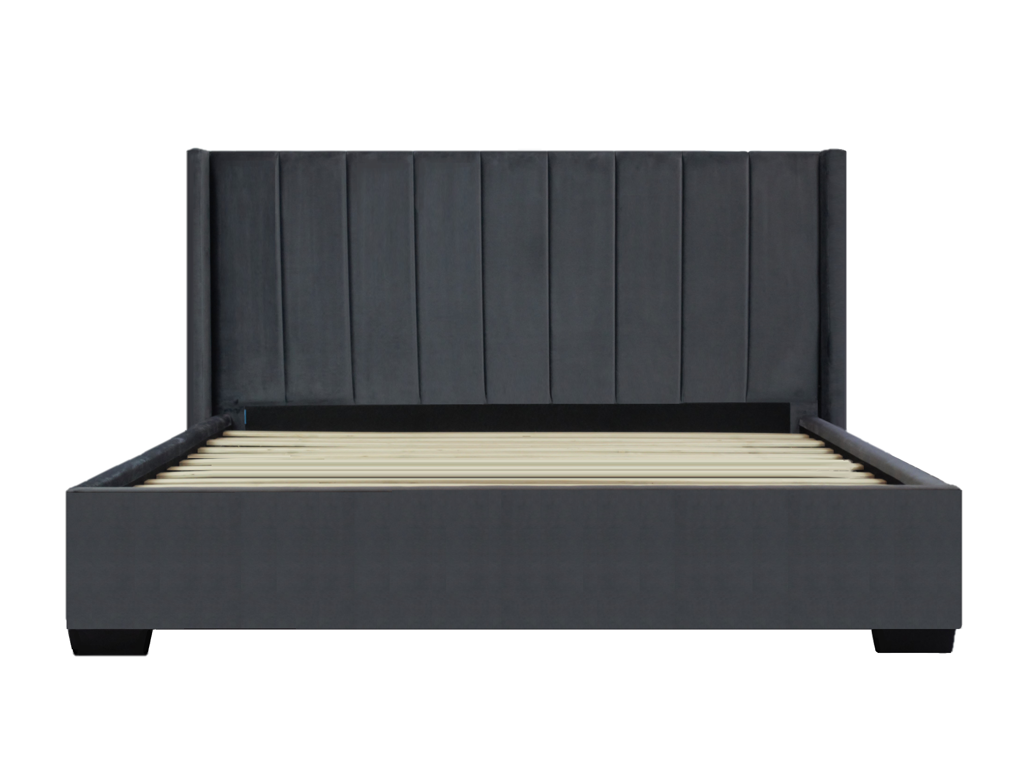 *NEW* Bed Frame (Super King, King, Queen) - Mayfair Velvet Charcoal