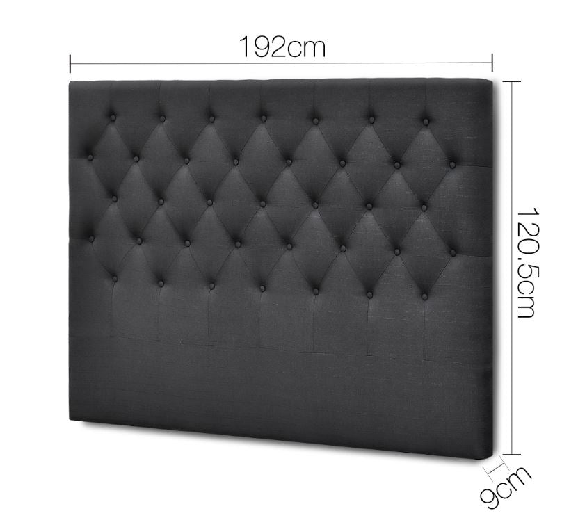 Oxford Headboard (Double, Queen, King) - Charcoal
