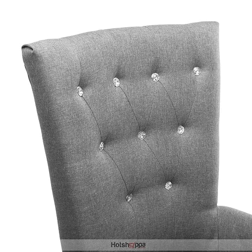 Studded Chair - Tufted Grey