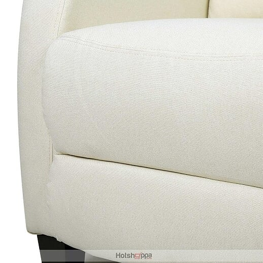 Reclining Sofa Armchair Linen Fabric - Beige