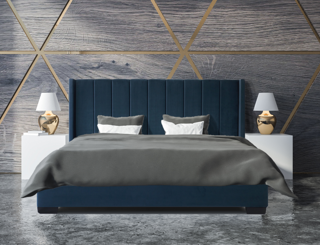 *NEW* Bed Frame (Super King, King, Queen) - Mayfair Blue Velvet
