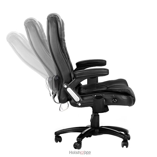 Office Chair 8 Point Massage Executive PU Leather - Black