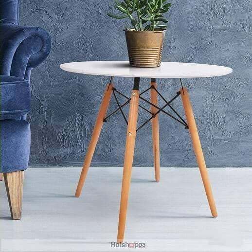 White Round Table - 80cm