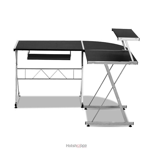Computer Desk Modern L- Shaped Corner - Black