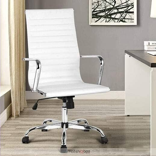 Executive Office Chair High Back - White