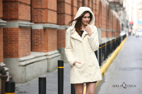 ELEGENCE PERSIAN LAMB FABULOUS FAUX FUR COAT