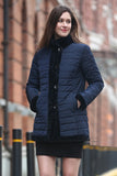 Blue Practic Revesible Short Jacket Fabulous Faux Fur Coat - Adelaqueen - 1