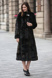 Black Elegant and Vintage Mink Fabulous Faux Fur Coat - Adelaqueen - 3