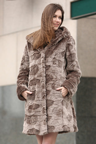 Beige Practic Revesible Short Jacket Fabulous Faux Fur Coat