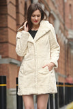 Persian Lamb Fabulous Faux Fur Coat Beige With Hood