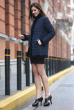 Blue Practic Revesible Short Jacket Fabulous Faux Fur Coat - Adelaqueen - 4