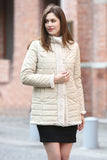 Beige Practic Revesible Short Jacket Fabulous Faux Fur Coat - Adelaqueen - 2