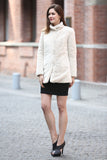 Beige Practic Revesible Short Jacket Fabulous Faux Fur Coat - Adelaqueen - 4