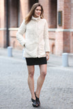 Beige Practic Revesible Short Jacket Fabulous Faux Fur Coat - Adelaqueen - 5