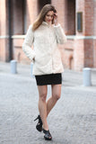 Beige Practic Revesible Short Jacket Fabulous Faux Fur Coat - Adelaqueen - 6