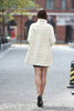 Elegant Beige Faux Fur Coat Middle Length with Stand Collar - Adelaqueen - 7