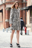 Winter Style Fabulous Leopard Print Faux Fur Coat Collarless - Adelaqueen - 2