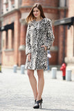 Winter Style Fabulous Leopard Print Faux Fur Coat Collarless - Adelaqueen - 5