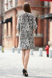 Winter Style Fabulous Leopard Print Faux Fur Coat Collarless - Adelaqueen - 6