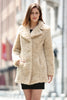 Beige Lightweight Jacket Shaggy Faux Fur Coat Velvety Soft - Adelaqueen - 1