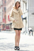 Beige Lightweight Jacket Shaggy Faux Fur Coat Velvety Soft - Adelaqueen - 2