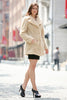 Beige Lightweight Jacket Shaggy Faux Fur Coat Velvety Soft - Adelaqueen - 3