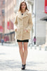 Beige Lightweight Jacket Shaggy Faux Fur Coat Velvety Soft - Adelaqueen - 4