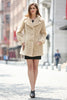 Beige Lightweight Jacket Shaggy Faux Fur Coat Velvety Soft - Adelaqueen - 7