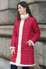 New Style Red Reversible Down Coat Fabulous Faux Fur Coat - Adelaqueen - 2