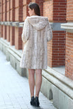Lush Reversible Down Coat Snow Leopard Print Faux Fur Coat - Adelaqueen - 15