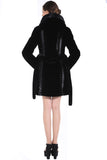 CHEVELLE SLEEK LINES COUTURE BLACK SHARED MINK FAUX FUR COAT - Adelaqueen - 4
