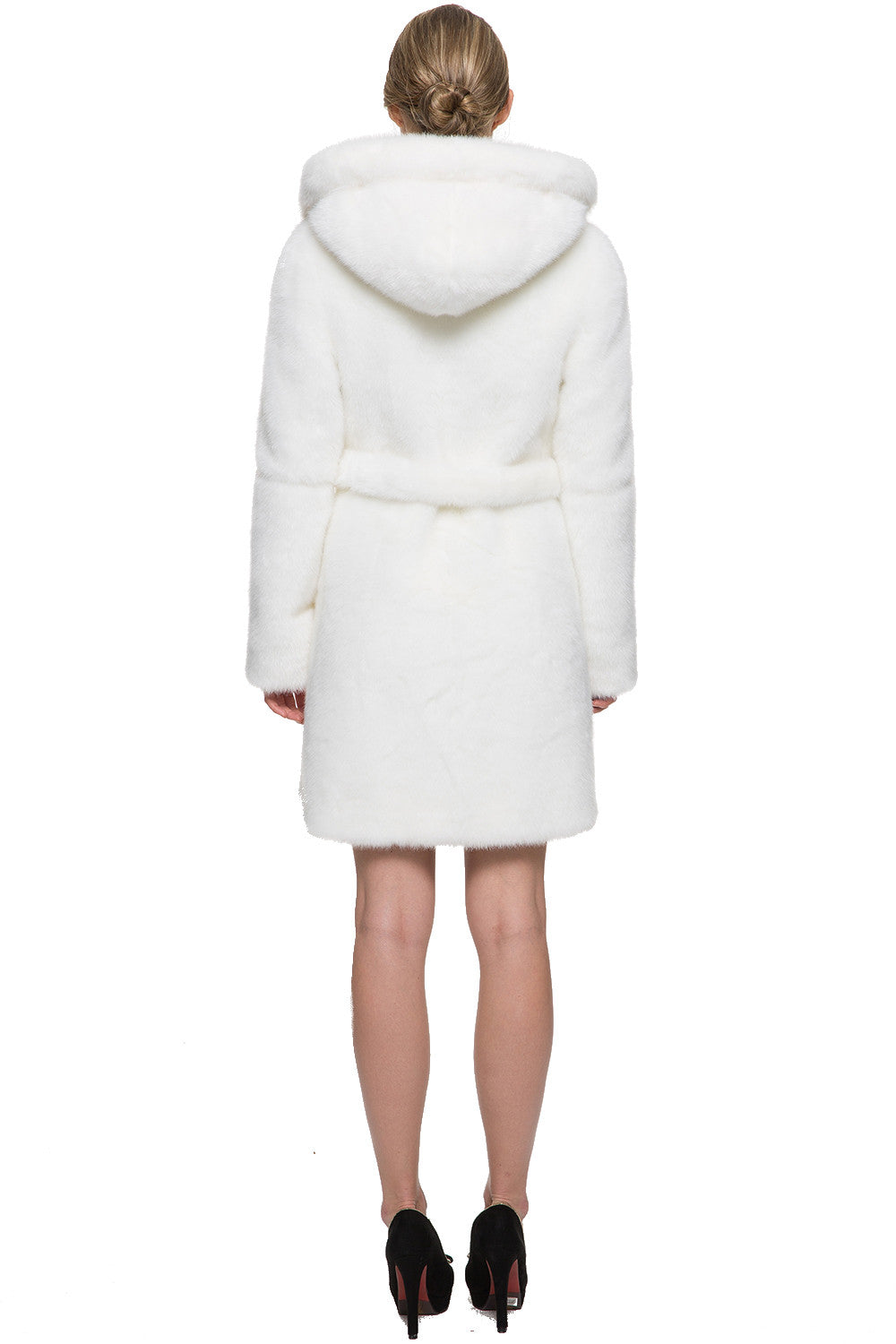 78017e90a3 SNOW PRINCESS WHITE MINK FAUX FUR COAT WITH HOODED – Adelaqueen