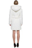 SNOW PRINCESS WHITE MINK FAUX FUR COAT WITH HOODED - Adelaqueen - 6