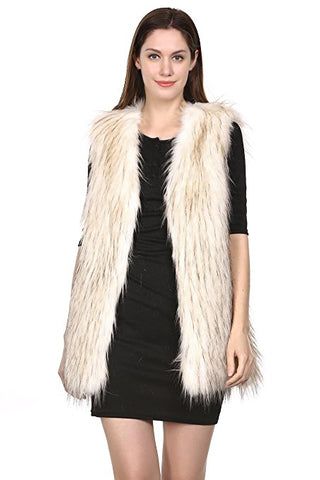 Puma Print Fabulous Faux Fur Coat Wide Lapel Knee Length