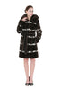 Clearance! Women's Sable Brown Faux Fur Coat with Hood