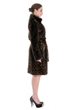 LEOPARD PRINT FAUX MINK FUR COAT WITH STAND COLLAR - Adelaqueen - 4